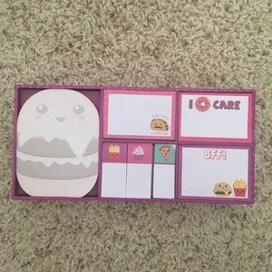 Kids food-themed notepads
